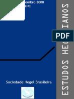 Revista Estudos Hegelianos Nº 9-Vários Artigos Sobre a 'Fenomenologia' [2008]