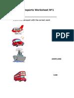 Transports Worksheet