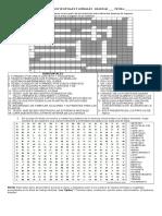 Crucigrama sobre tejidos y Sopa de letras.G.6°2015