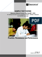 Wisdom Sample Test Paper 2016