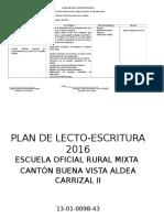 Plan de Lecto-Escritura 2016