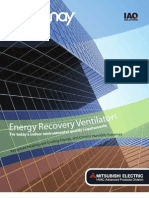 Mitsubishi Lossnay Energy Recovery Ventilator (ERV) Brochure