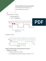 Logic Design Problems- Basics of Counter Design
