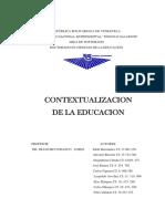 Contextualizacion de La Educacion