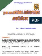 YACIMIENTOS MINERALES METALICOS