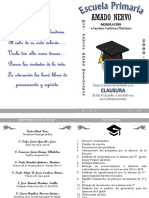 invitación Padrinos y Graduados