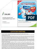 Materi Public Expose PT Kalbe Farma Tbk. 31 Oktober 2013