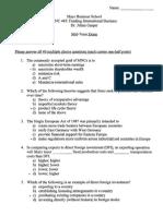 Sample Mid Term Exam FINC 445