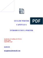 Ooo Capitulo 1 Introduccion a Writer