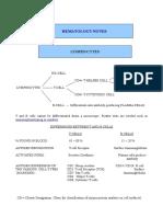 15593562 Hematology 3 Notes 3LYMPHOCYTESDisorders Excluding Lymphocytic Leukemia and Lymphomas