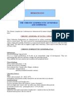 15950749 Hemat 3 Notes 4The Chronic Lymphocytic Leukemias and Lymphoma