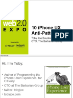 10 iPhone User Experience Anti-Patterns Presentation
