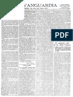 Entrevista a Clara Campoamor en el periódico La Vanguardia.
