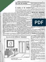 Editorial de La Voz sobre el voto femenino (en contra)