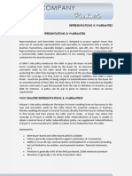 Representations & Warranties