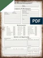 DSA 3 Heldendokument