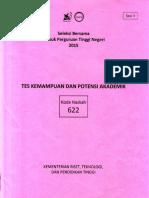Naskah Soal SBMPTN 2015 Tes Kemampuan Dan Potensi Akademik (TKPA) Kode Soal 622 by [Pak-Anang.blogspot.com]