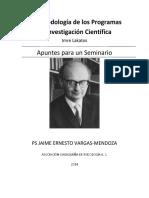 Imre Lakatos La Metodologia de Lo Programas de Investigacion Cientifica