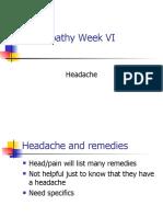 Homeopathy VI Headache