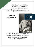 Textualizacion Don Quijote