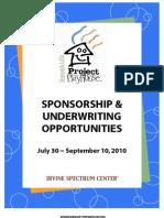 PP2010 Sponsorship Opportunities