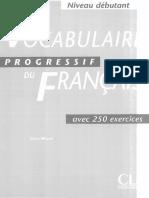Vocabulaire progressif du Français débutant (livre +corrigés)