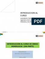 Introducción Al Curso de Obras Hidráulicas