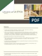 El Origen de La Ética (Definición)