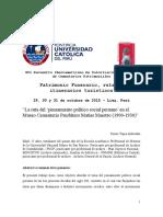 La Ruta Del Pensamiento Político Social Peruano en El Museo Cementerio Presbítero Matías Maestro (1900-1930)