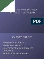 Presentation on Export Credit