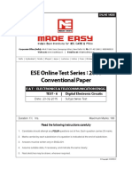 MadeEasy ESE conventional paper for Digital Electronics