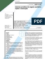 NBR 08160 - 1999 - sistemas prediais de esgoto sanitário - projeto e execução