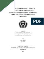 Pelaksanaan Konseling Kesehatan Reproduksi Remaja Dalam Upaya Penanggulangan Seks Bebas Pada Remaja Di Kecamatan Ulujami Kabupaten Pemalang
