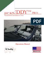 Lil Buddy PRO1 Manual
