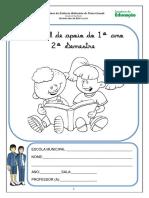 Caderno de atividades - 1º ano - 2º sem