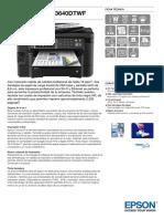 Ficha Tecnica Epson Wf 3640