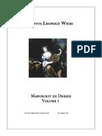 Leopold Silvius Weiss - Manuscrit de Dresde, Vol 1