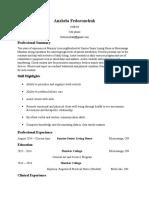 anzhela fedoronchuk resume 2