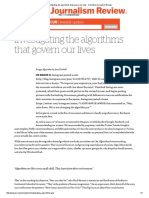Investigating the Algorithms That Govern Our Lives - Columbia Journalism Review