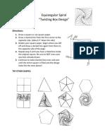equiangular spiral project