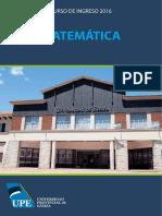 Módulo Matemáticas Ingreso UPE 2016