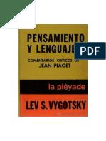 Vigotsky, Lév Semiónovich - Pensamiento y Lenguaje