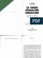 ASKOLDOVA, Svétlana. Le Trade Unionisme Américain
