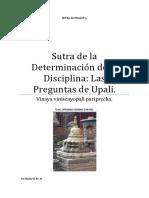 Sutra de La Determinación de La Disciplina Las Preguntas de Upali.
