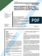 NBR 05688 - 1999 - Sistemas Prediais de Agua Pluvial Esgoto Sanitario e Ventilacao - Tubos e Conexoes De