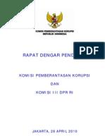 Jawaban RDP Komisi III-KPK 28 April 2010