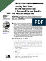 Nutrient Requirements, Seasonal Pasture Quality, Http-::Anrcatalog.ucanr.edu:PDF:8021
