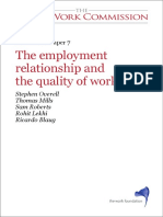 Employment Relationship Quality Of Work