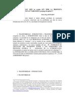 Artículos 46 y 52 Ley 24522 en Versión Ley 25589. La Propuesta Heterónoma y Nuevas Variantes - Richard