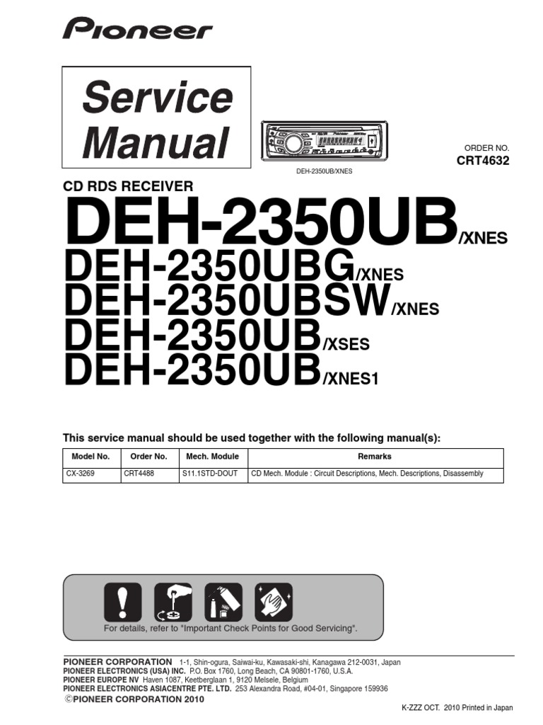 Wiring Diagram For A Pioneer Deh X65bt Auto Electrical Charming X55hd Gallery